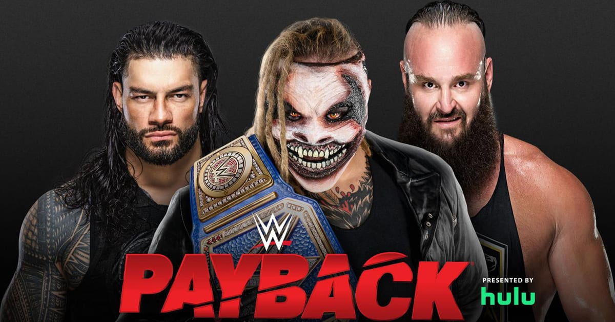 The Fiend Bray Wyatt vs Roman Reigns vs Braun Strowman - WWE Payback 2020