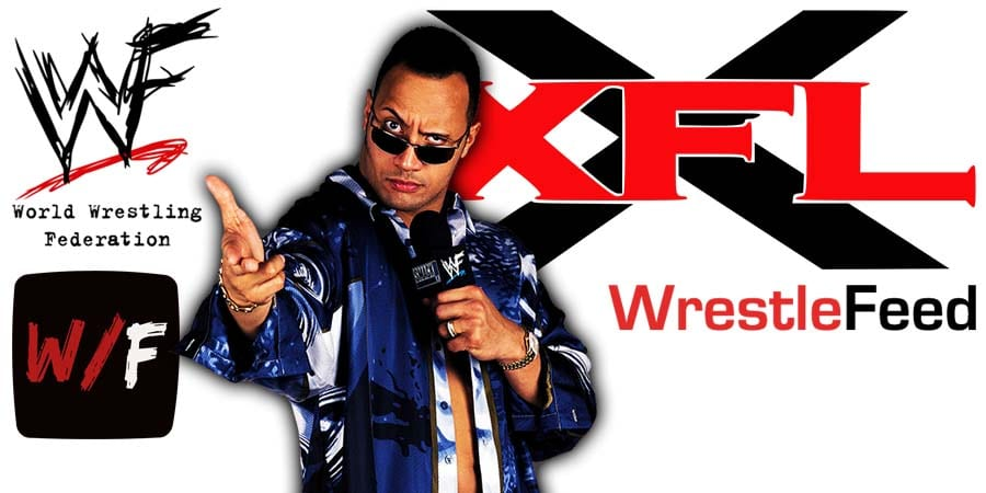 XFL Owner The Rock WrestleFeed App