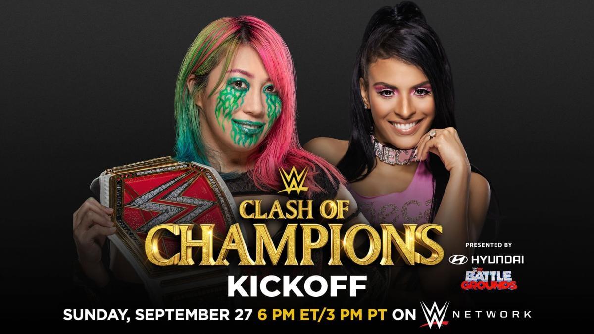 Asuka vs Zelina Vega - WWE Clash Of Champions 2020 Kickoff Show