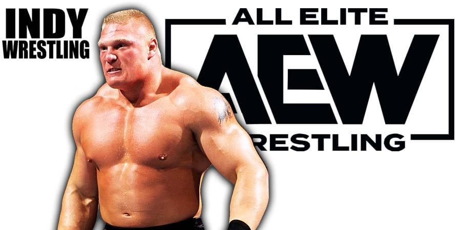 Brock Lesnar AEW All Elite Wrestling Article Pic 1