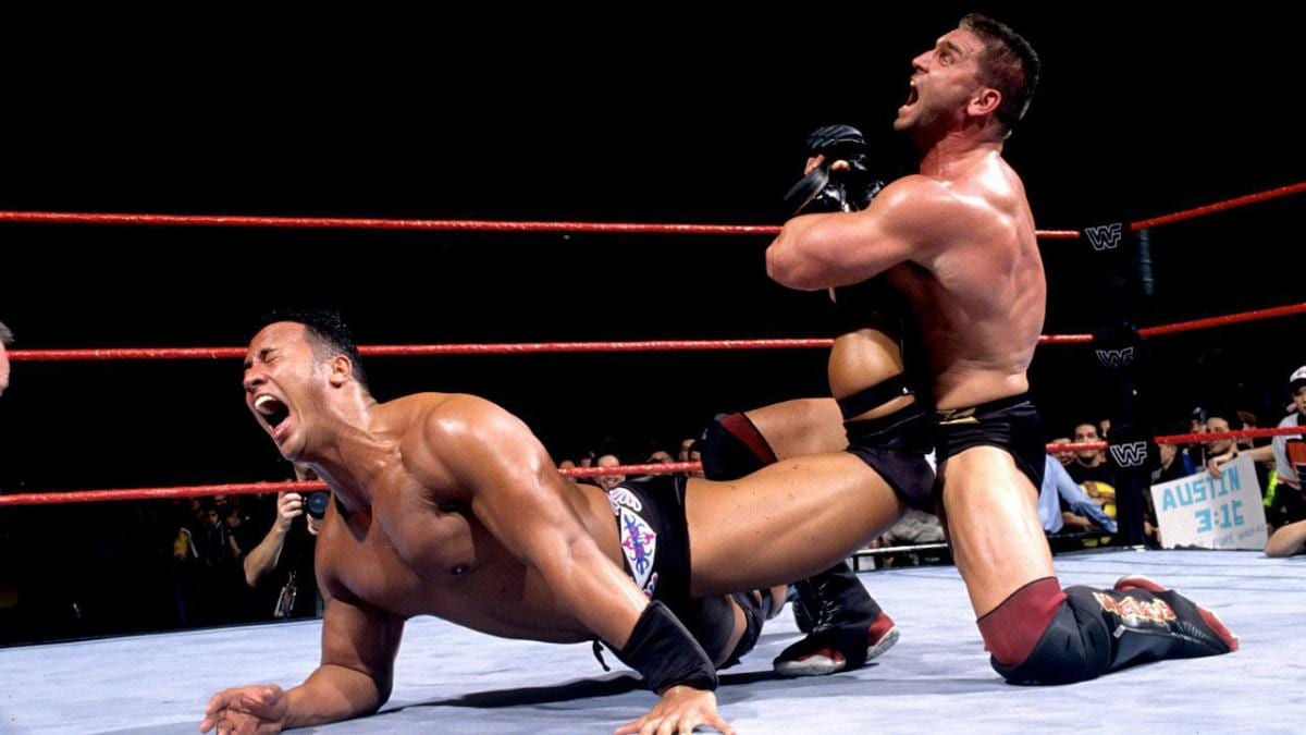 Ken Shamrock Ankle Lock On The Rock WWF Attitude Era 1998