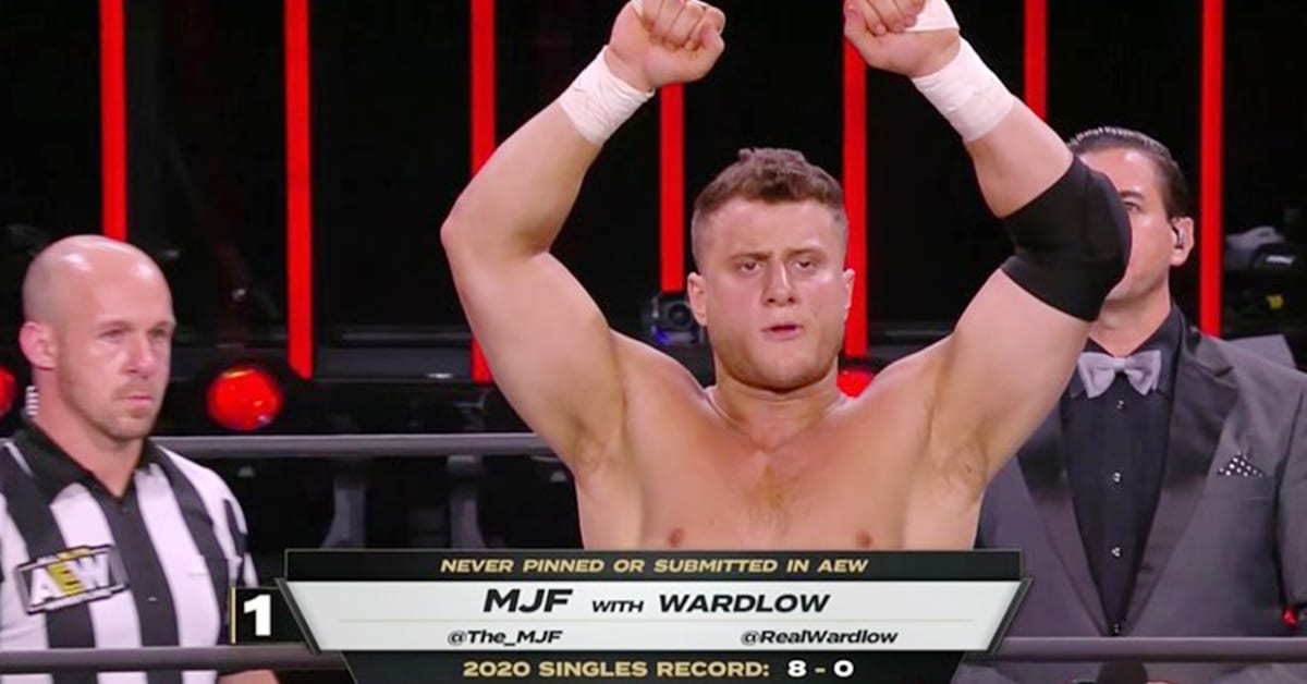 MJF AEW All Out 2020 Match Statistics Graphic