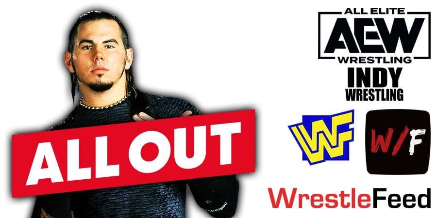 Matt Hardy AEW All Out 2020 WrestleFeed App