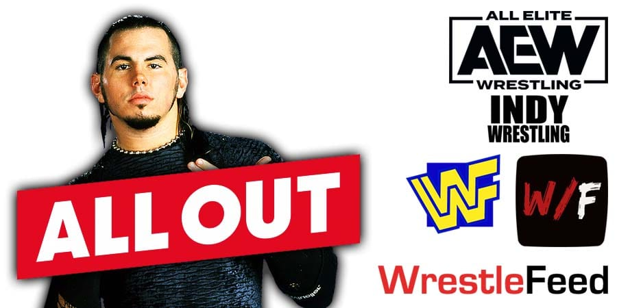 Matt Hardy AEW All Out 2020 WrestleFeed App