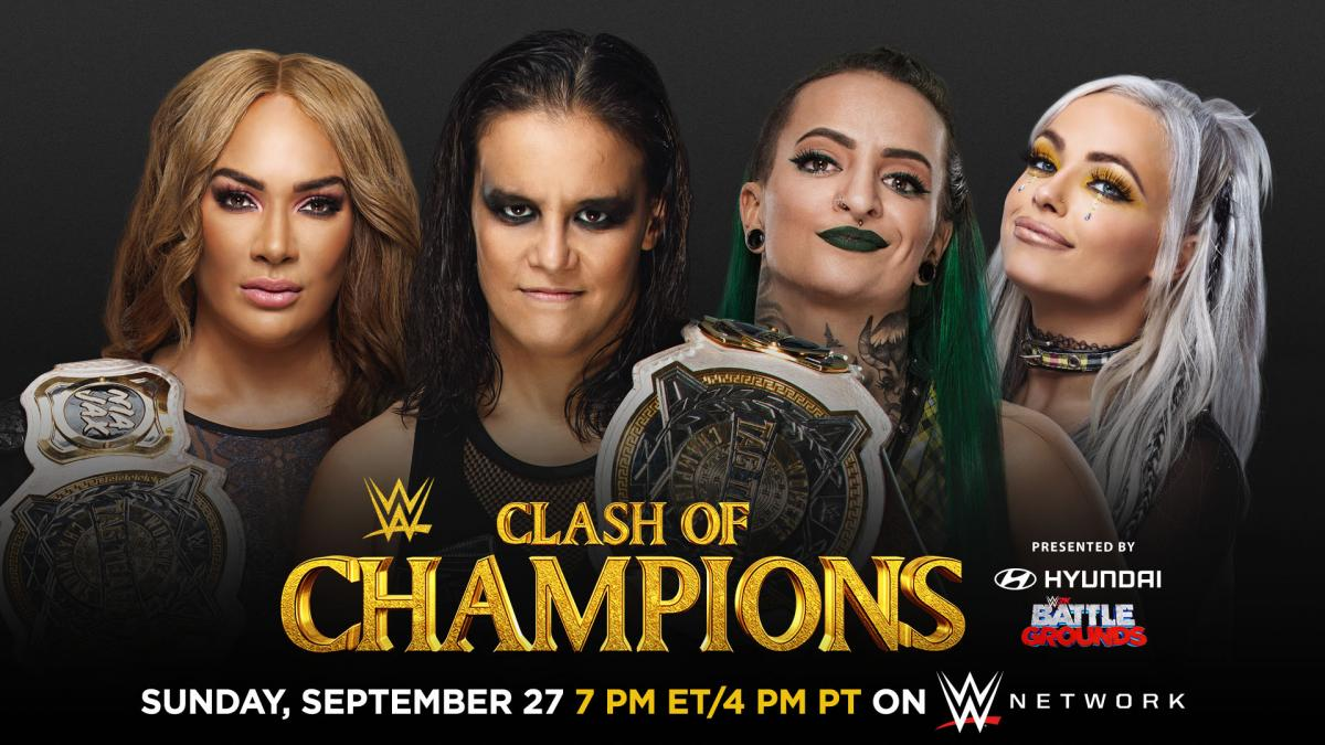 Nia Jax Shayna Baszler vs Ruby Riott Liv Morgan - WWE Clash Of Champions 2020