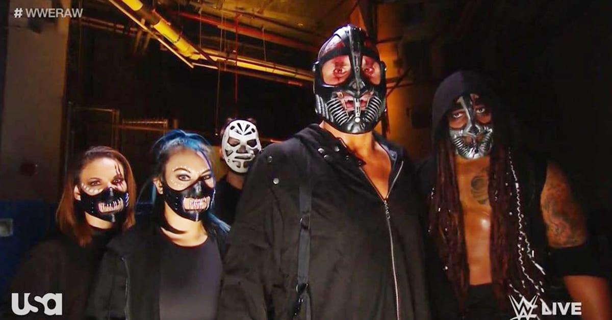 RETRIBUTION Backstage WWE RAW Mia Yim Mercedes Martinez Shane Thorne Dominik Dijakovic Dio Maddin