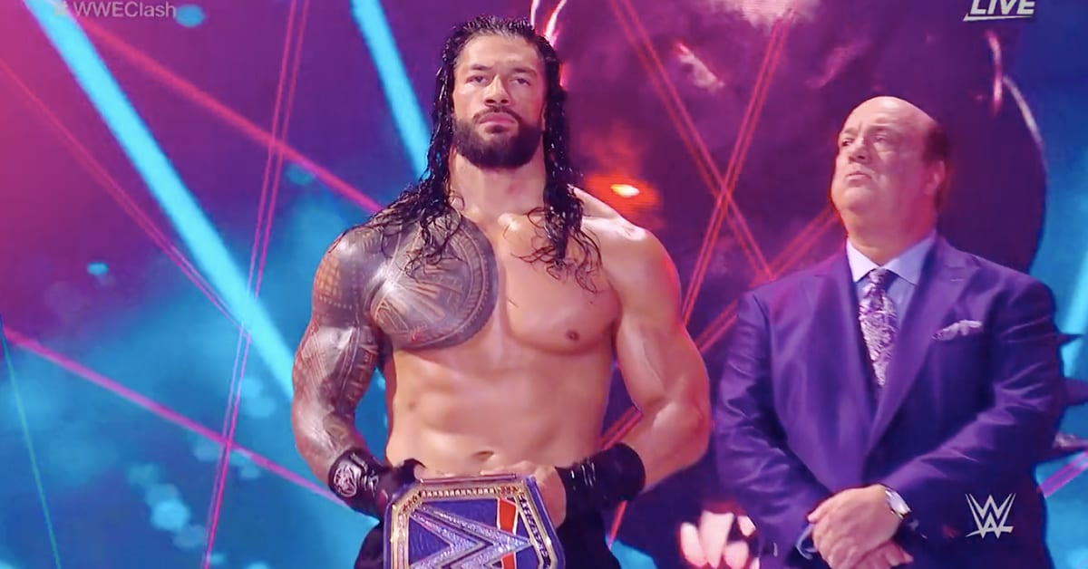 Roman Reigns Shirtless Topless Vestless Body Physique Muscles WWE Clash Of Champions 2020 - 2