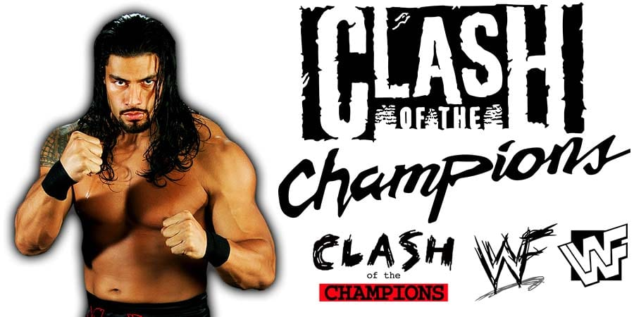 Roman Reigns WWE Clash Of Champions 2020 PPV Article Pic