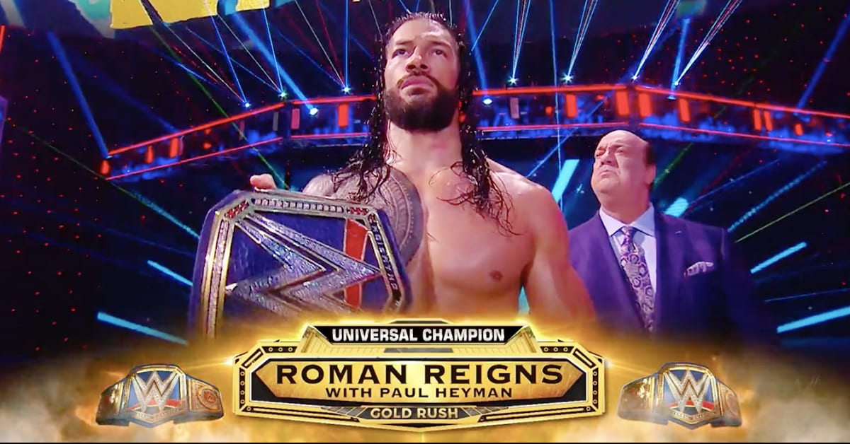 Roman Reigns WWE Universal Champion Clash Of Champions Gold Rush Name Graphic