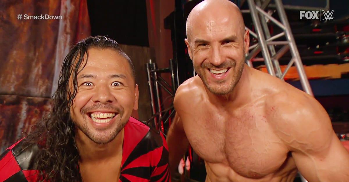 Shinsuke Nakamura Cesaro Smiling Teeth Laughing