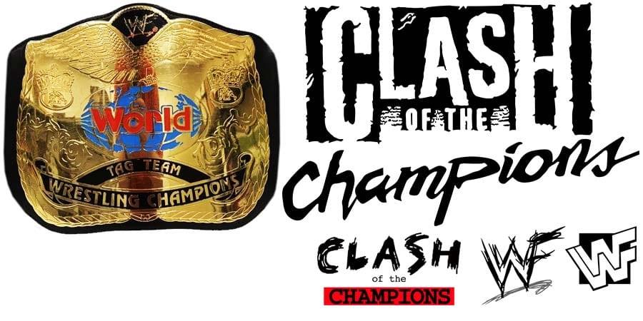 Tag Team Championship Title Match WWE Clash Of Champions