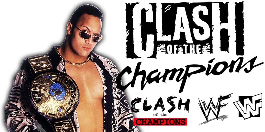 The Rock WWE Clash Of Champions 2020