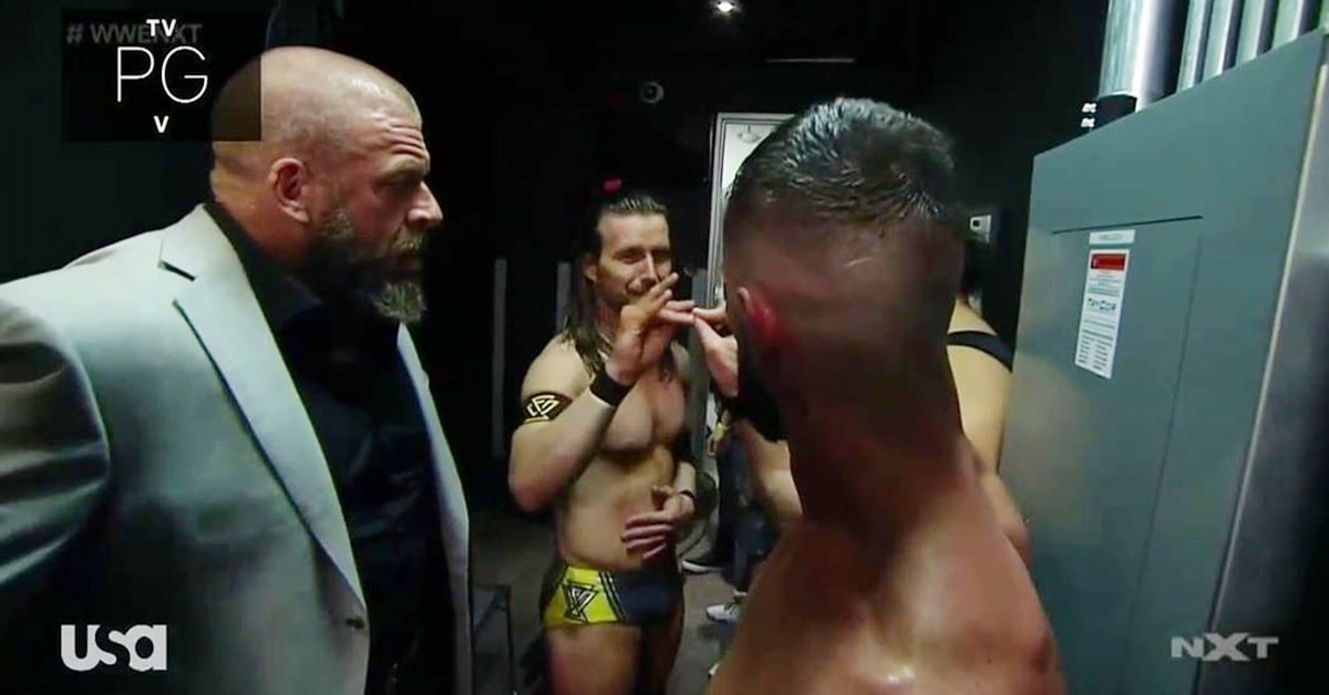 Triple H Adam Cole Finn Balor Show Each Other Respect Too Sweet Backstage After Title Match At NXT Super Tuesday II