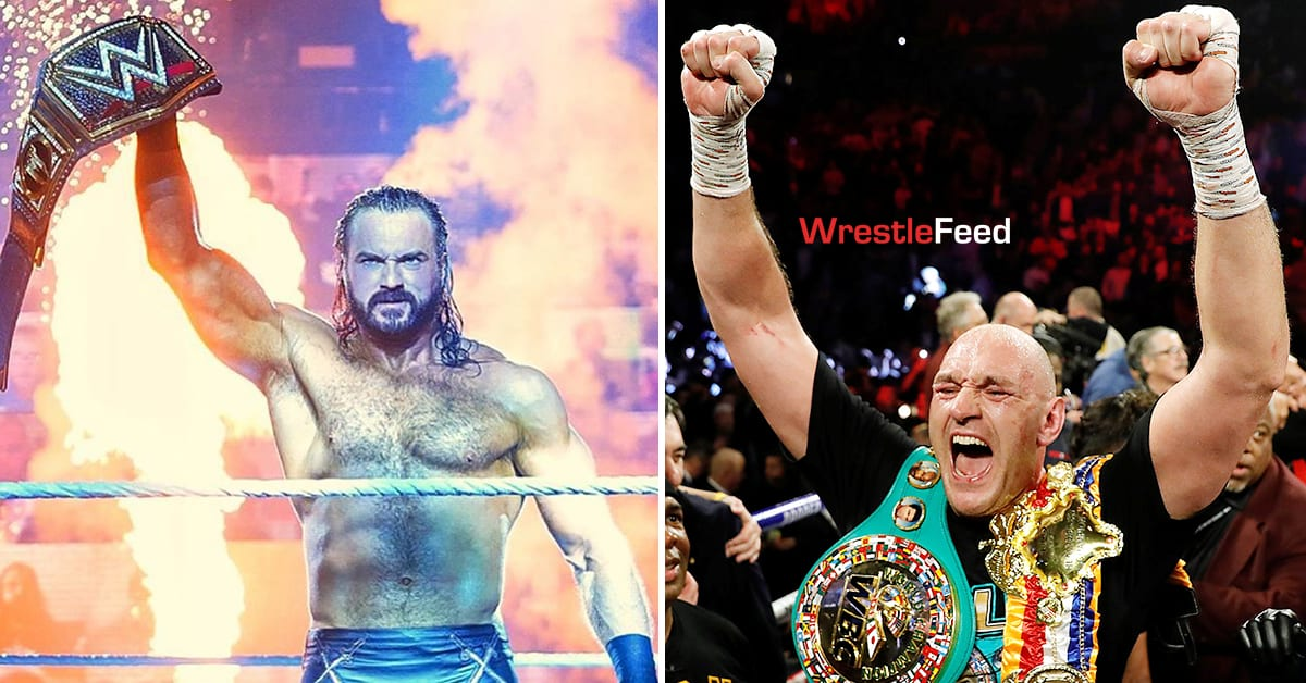 WWE Champion Drew McIntyre vs Tyson Fury WrestleFeed App
