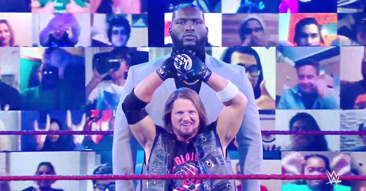 AJ Styles Jordan Omogbehin WWE RAW Season Premiere 2020