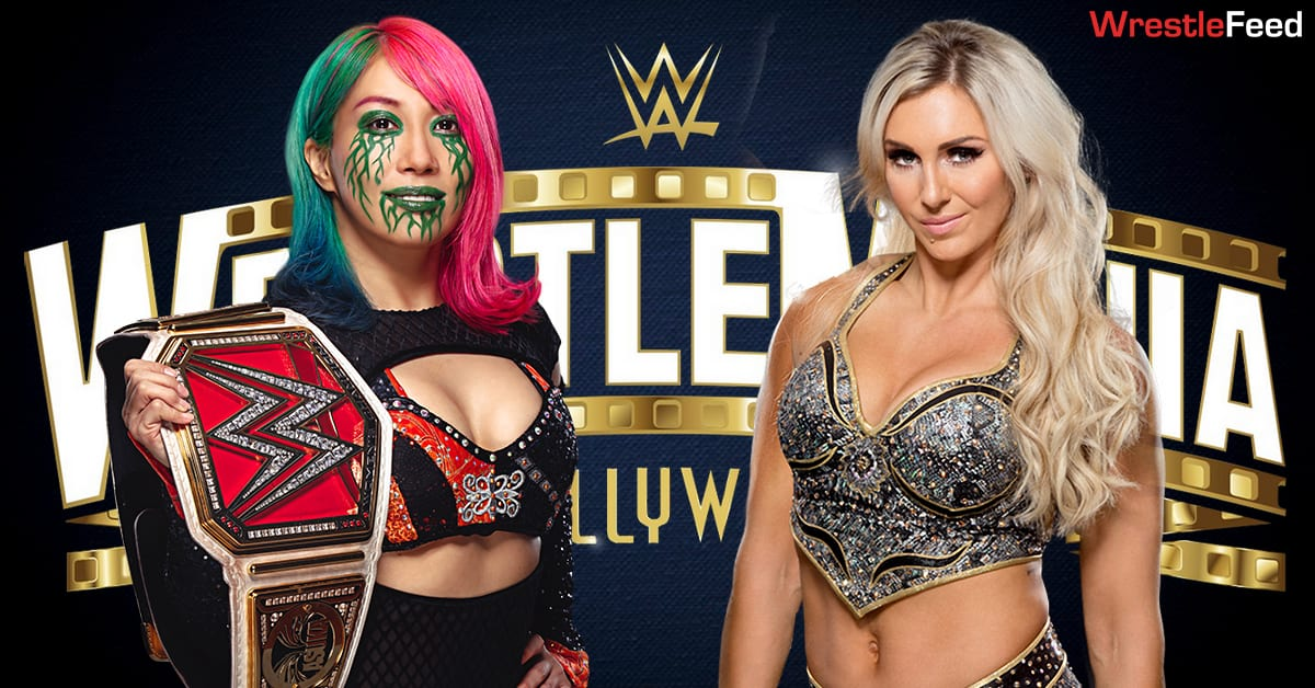 Asuka vs Charlotte Flair RAW Women's Championship Match Graphic WrestleFeed App