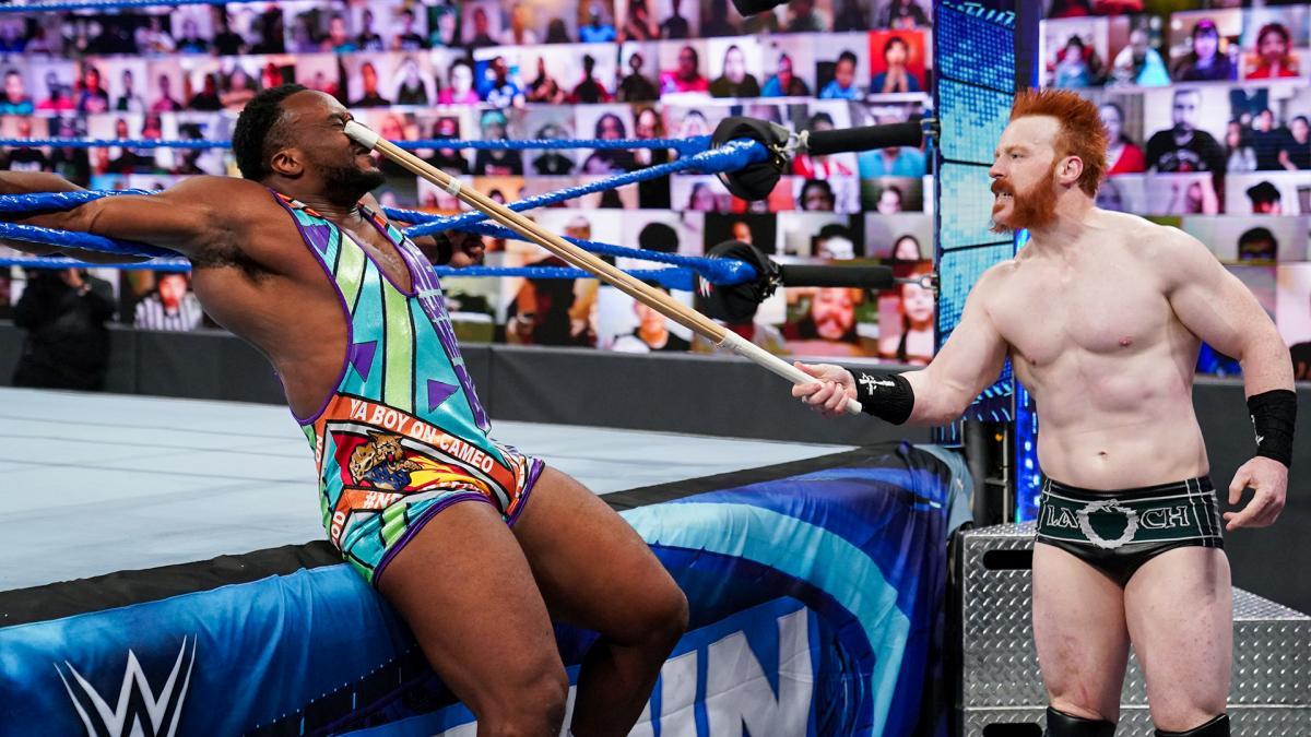 Big E Ya Boy On Cameo Singlet Sheamus Kendo Stick WWE SmackDown