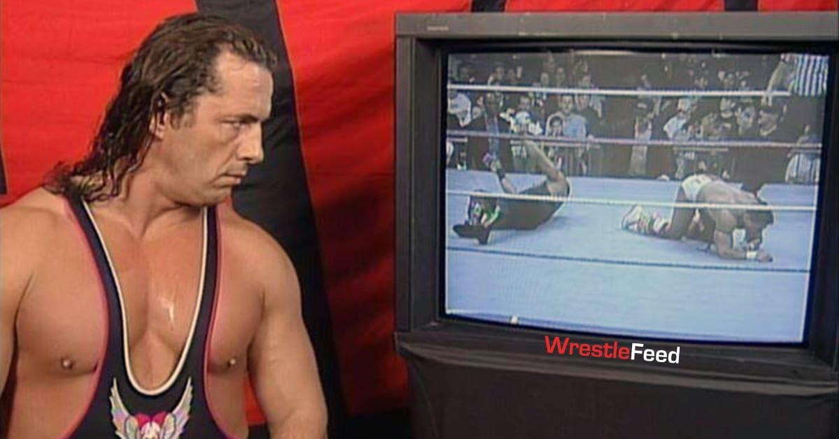 Bret Hart Watching TV Backstage In WWF WrestleFeed App