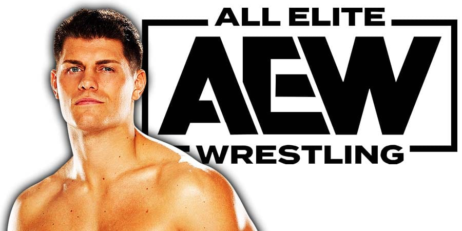 Cody Rhodes AEW All Elite Wrestling Article Pic