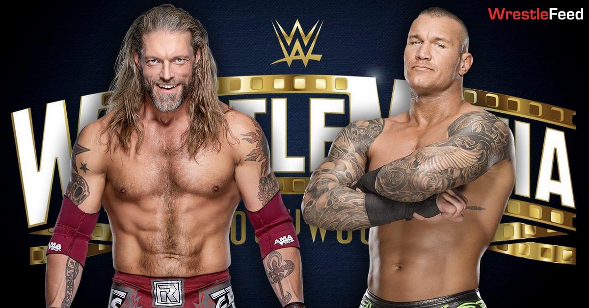 Edge vs Randy Orton I Quit Match WrestleMania 37 Graphic WrestleFeed App