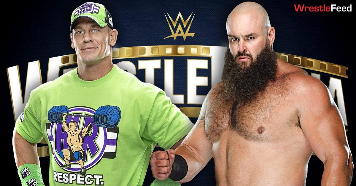 John Cena vs Braun Strowman WrestleMania 37 Match Graphic WrestleFeed App