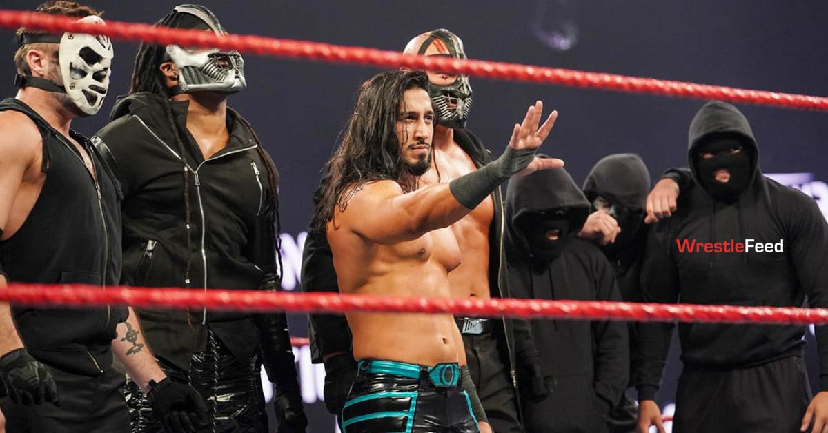 Mustafa Ali Leader Of RETRIBUTION With Other Members WrestleFeed App