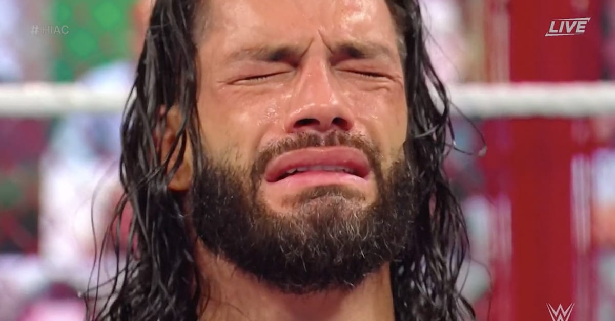 Roman Reigns Crying WWE Hell In A Cell 2020