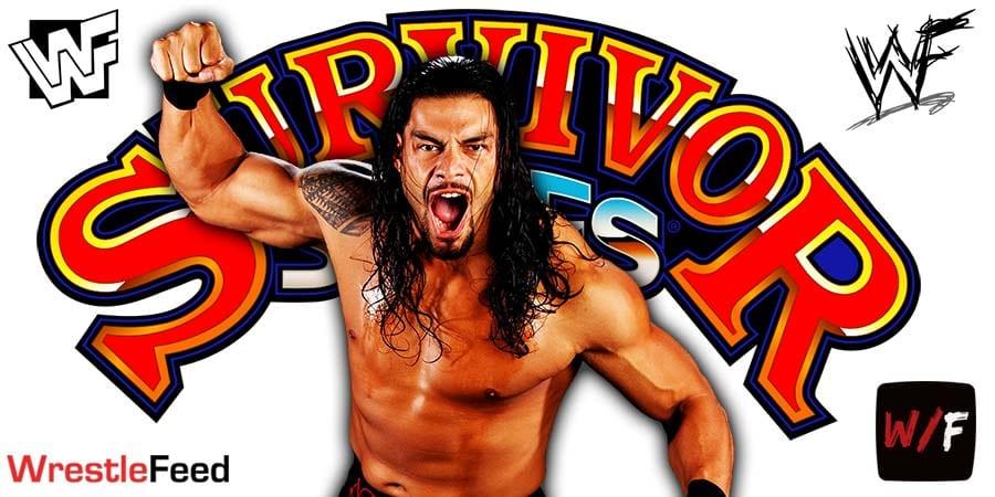 Roman Reigns WWE Survivor Series 2020 WrestleFeed App