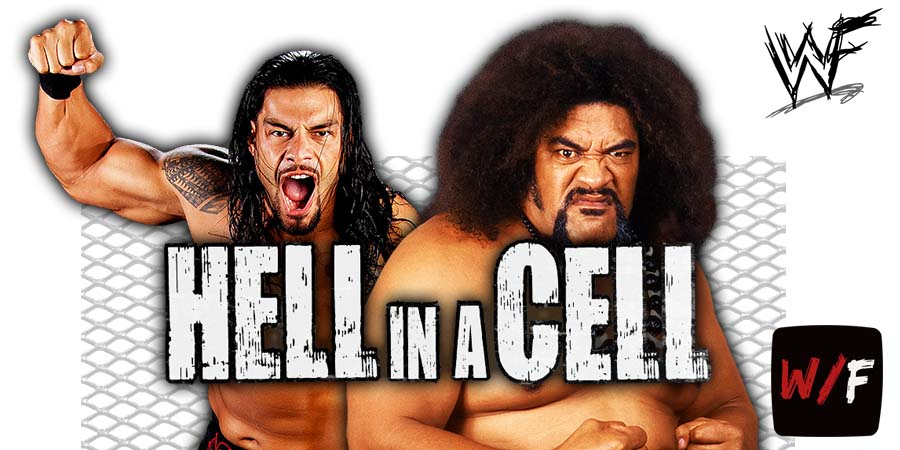 Roman Reigns and his father Sika WWE Hell In A Cell 2020 WrestleFeed App