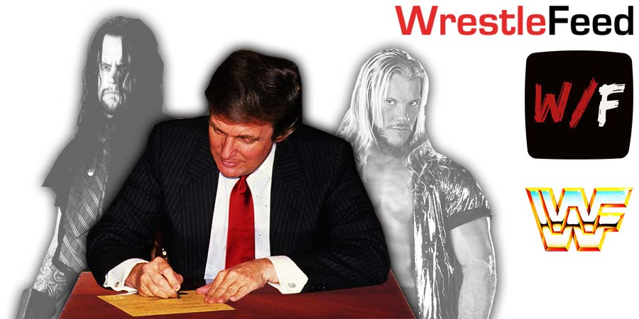 Undertaker Chris Jericho Donated To Donald Trump's Re-Election Campaign 2020 WrestleFeed App