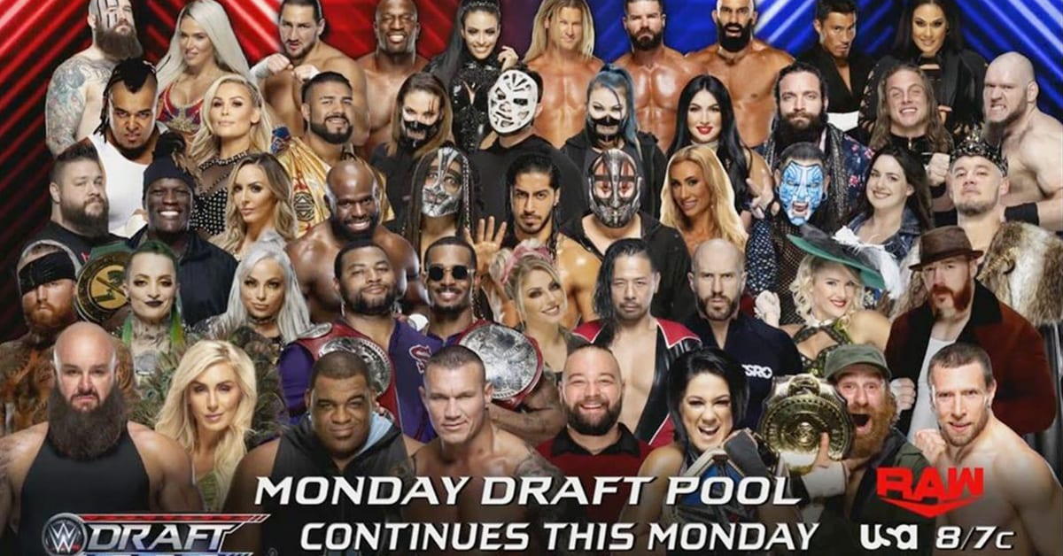 WWE Draft 2020 RAW Pool Graphic