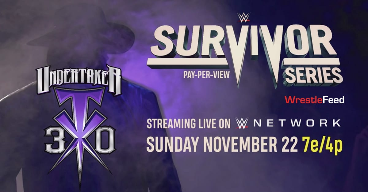 WWE Survivor Series 2020 30 Years Of Undertaker Official Graphic WrestleFeed App