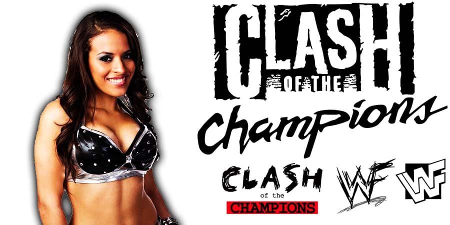 Zelina Vega Suffers Wardrobe Malfunction Nip Slip At WWE Clash Of Champions 2020