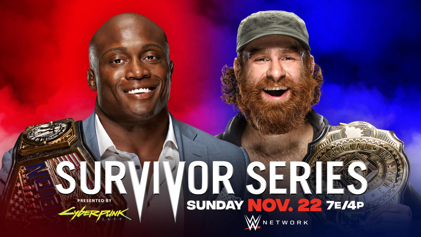 Bobby Lashley vs Sami Zayn WWE Survivor Series 2020 Official Graphic