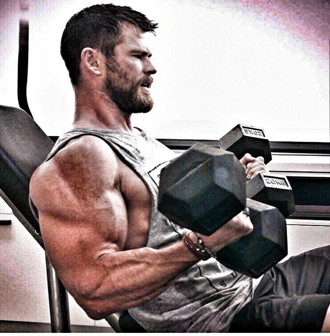 Chirs Hemsworth Biceps Triceps Shoulders Deltoids
