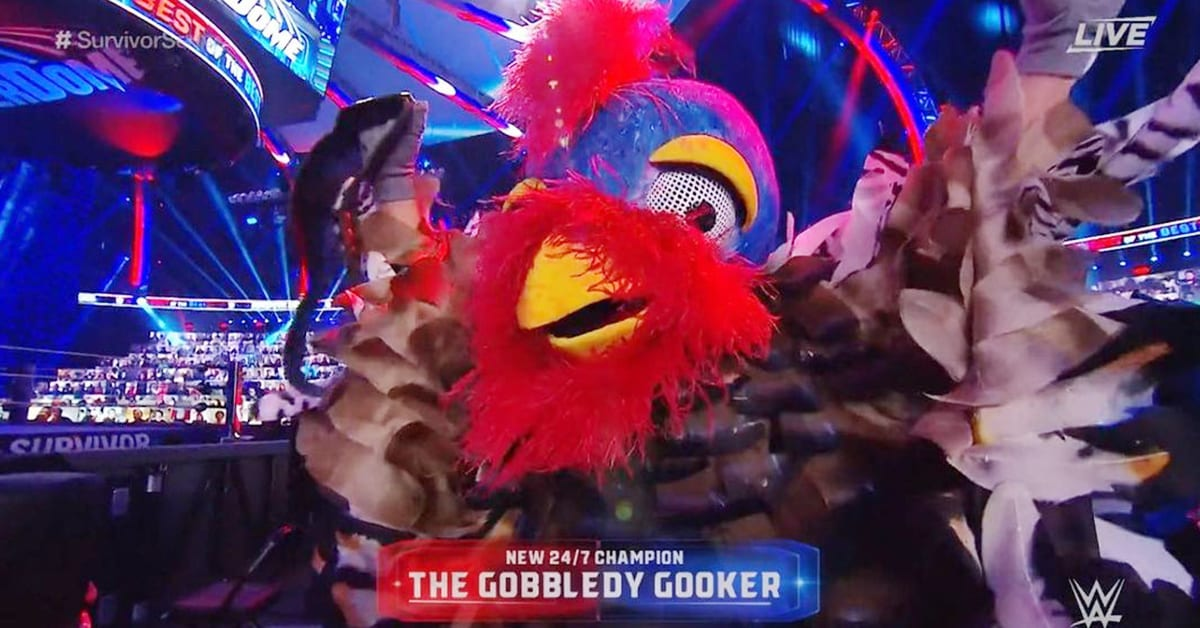 Gobbledy Gooker Wins WWE 24 7 Title On The Survivor Series 2020 Kickoff Show
