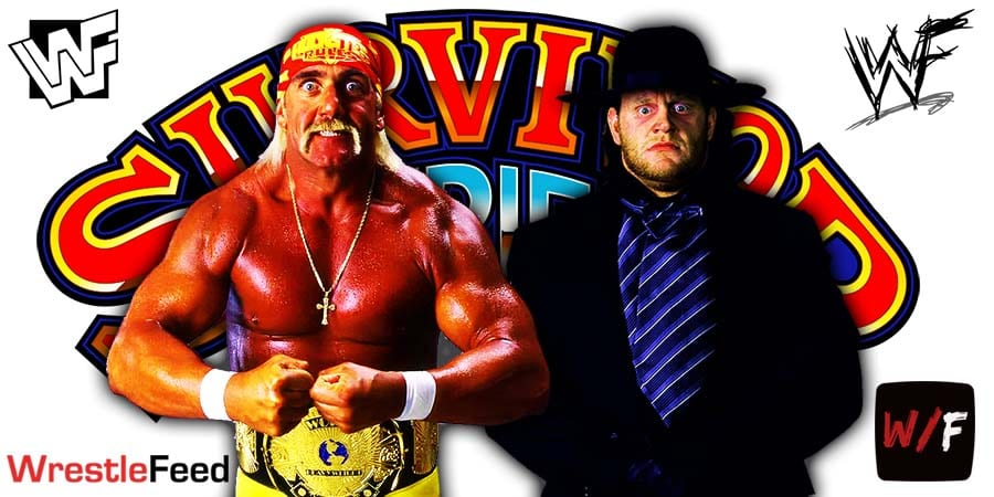 Hulk Hogan vs The Undertaker WWF Championship Match The Gravest Challenge Survivor Series 1991 WrestleFeed App