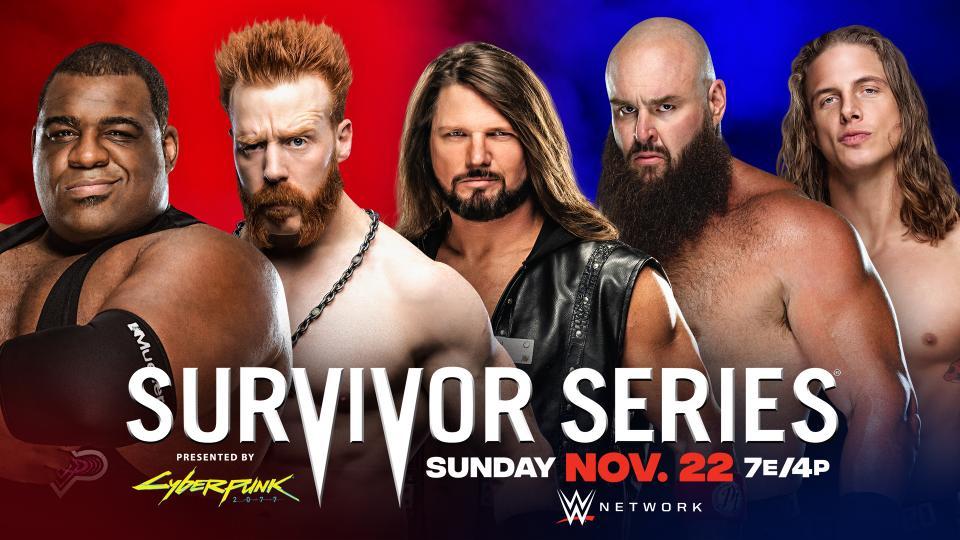 Keith Lee Sheamus AJ Styles Braun Strowman Matt Riddle WWE Survivor Series 2020 RAW Men's Team