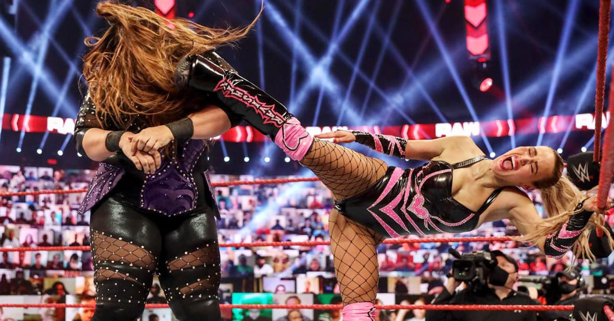 Lana Kicks Nia Jax On WWE RAW