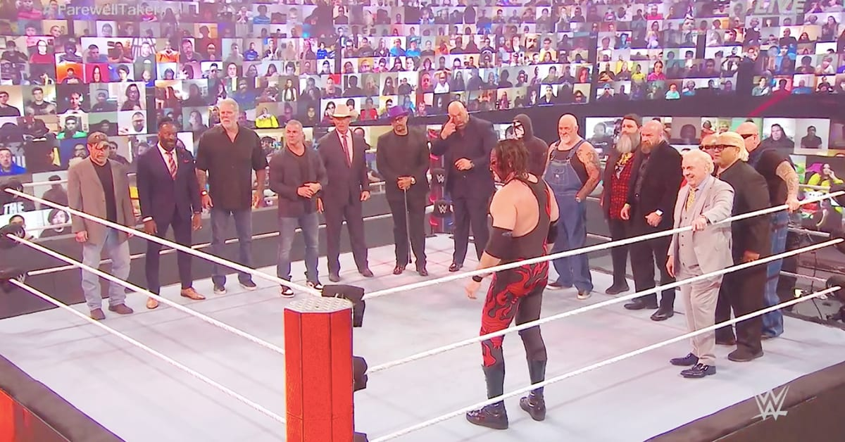 Legends During Undertaker Final Farewell Segmetn WWE Survivor Series 2020