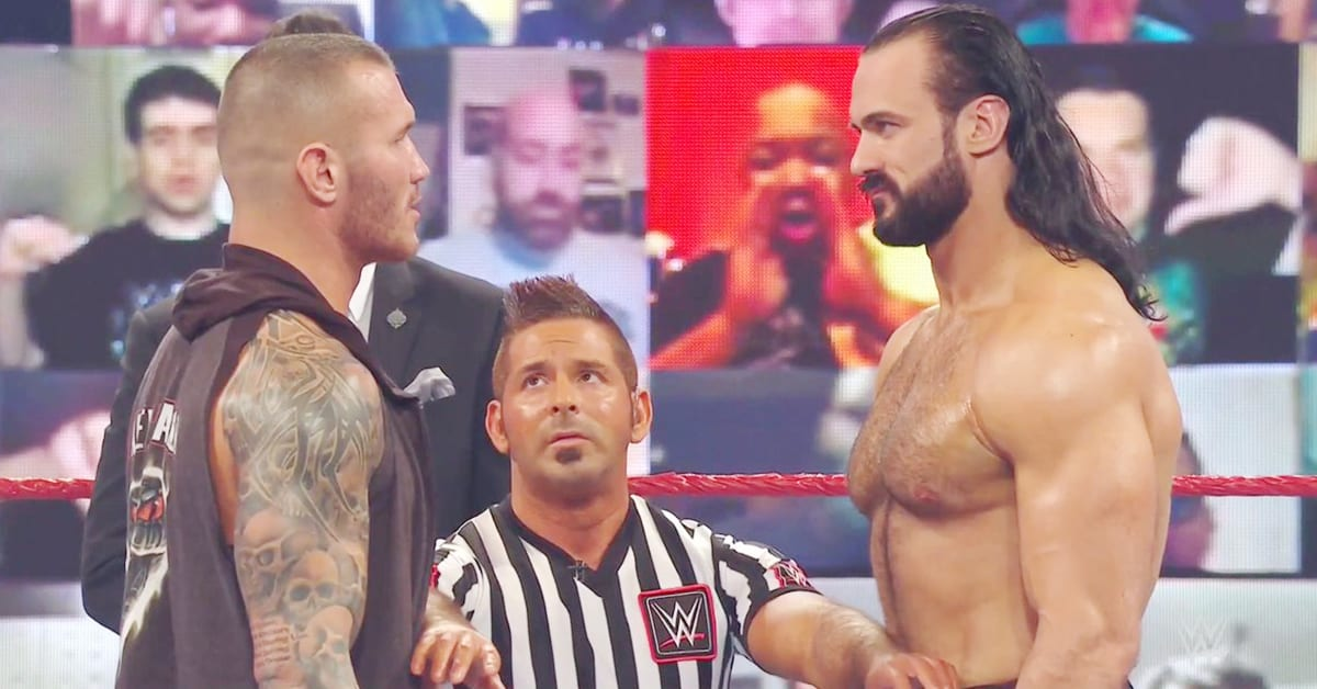 Randy Orton Drew McIntyre Face To Face Before WWE Championship Match On RAW