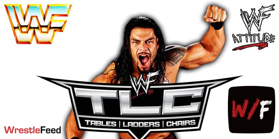 Roman Reigns WWE TLC 2020 WrestleFeed App