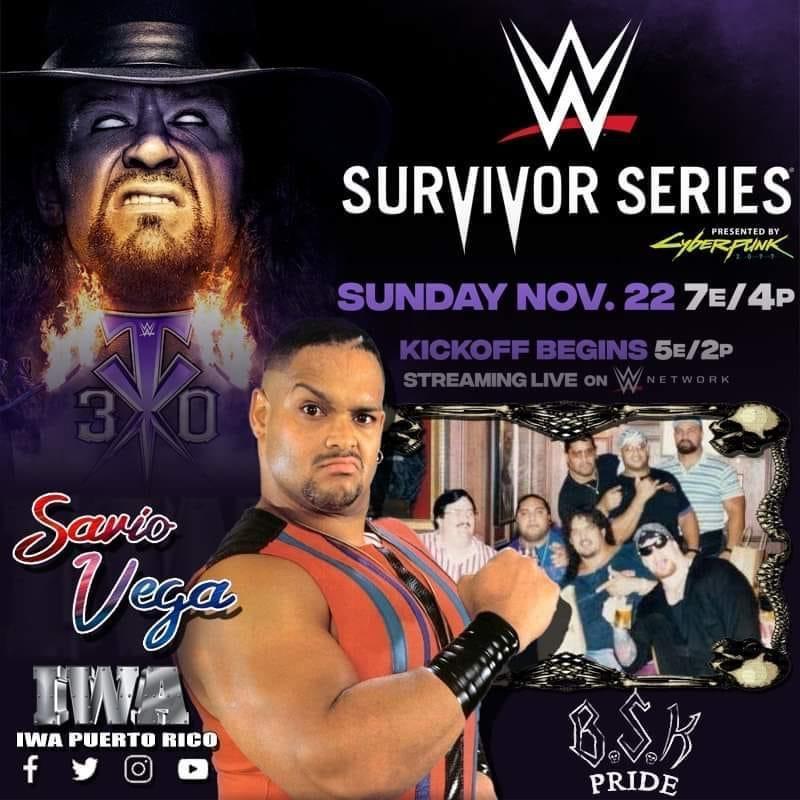 Savio Vega Appearing At WWE Survivor Series 2020 For The Undertaker's Final Farewell