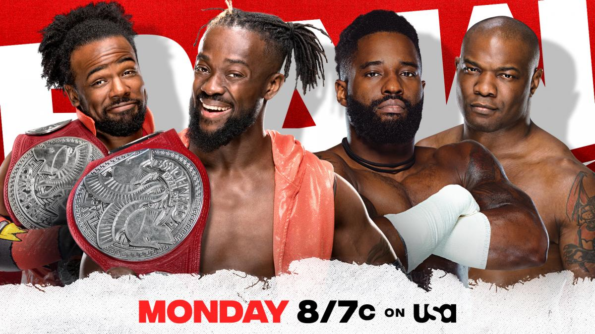 The New Day vs The Hurt Business Cedric Alexander Shelton Benjamin RAW Tag Team Championship Match