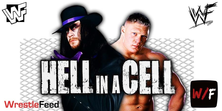 The Undertaker vs Brock Lesnar WWE Hell In A Cell Match WrestleFeed App