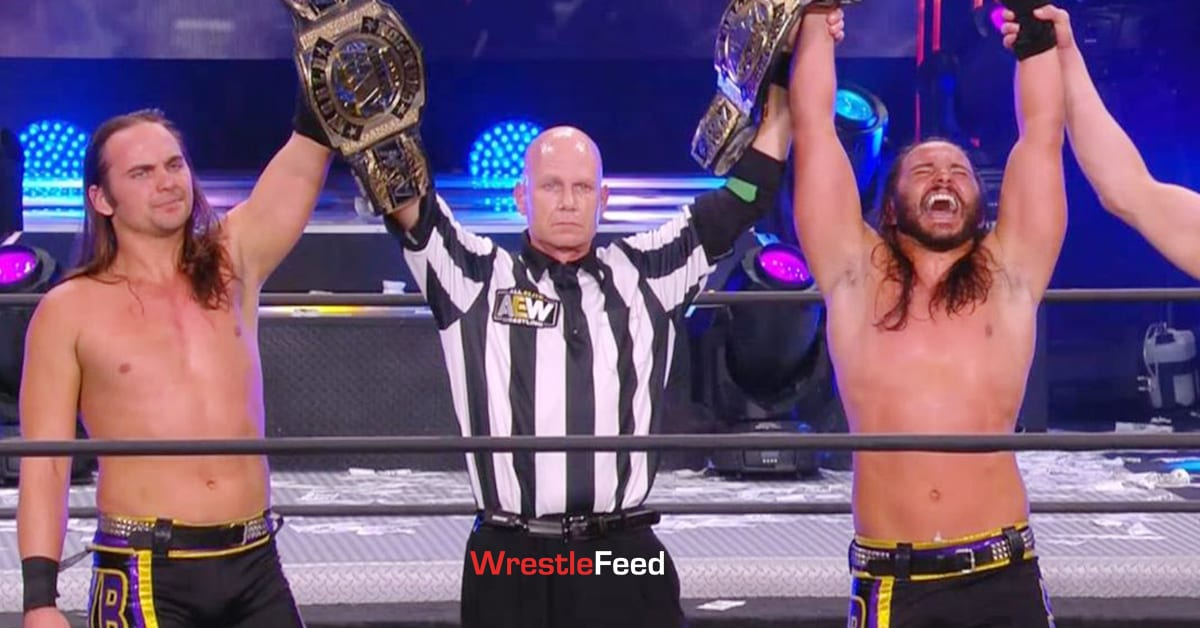 The Young Bucks Defeat FTR To Win AEW World Tag Team Championship At AEW Full Gear 2020 WrestleFeed App