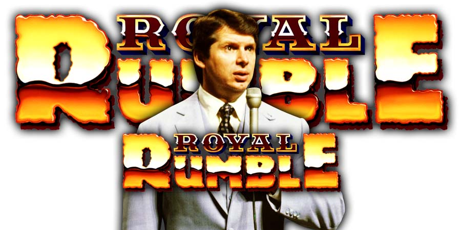 Vince McMahon WWE Royal Rumble 2021