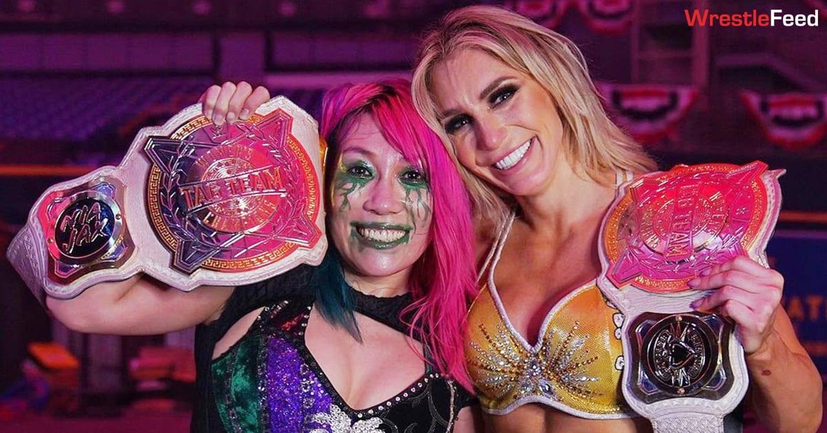 Asuka Charlotte Flair WWE Women's Tag Team Champions TLC 2020 WrestleFeed App