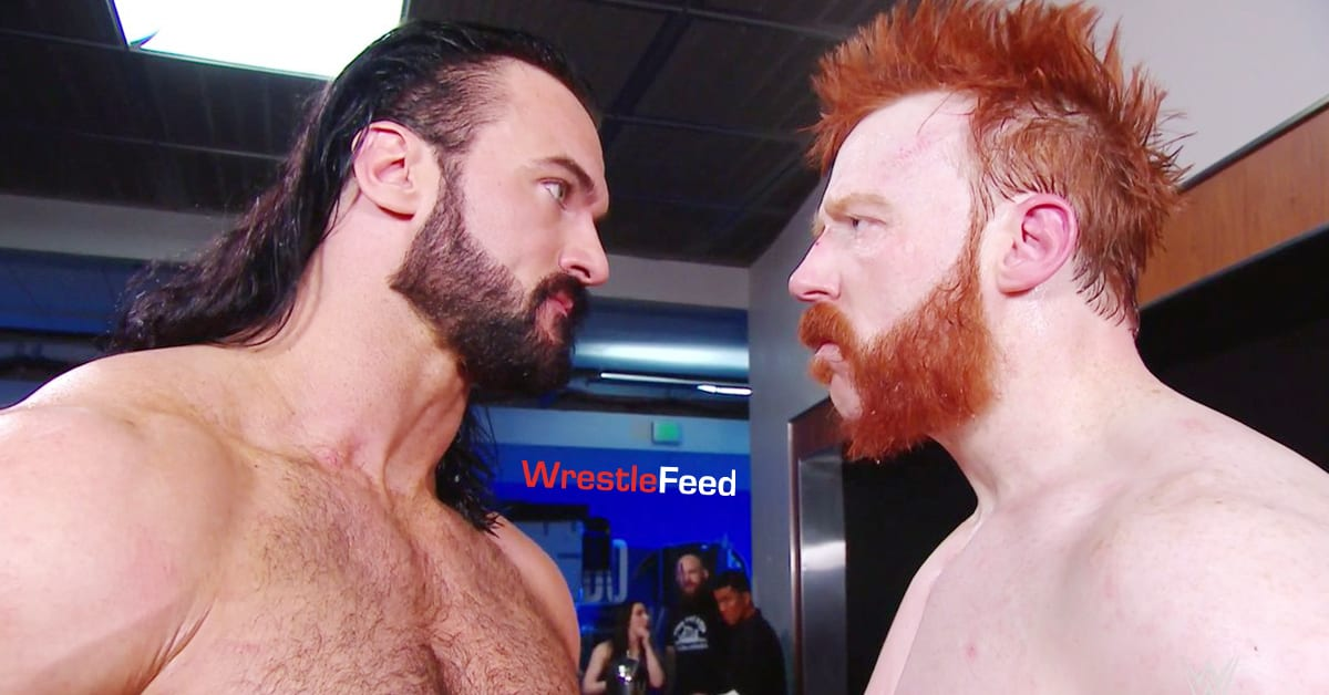 Drew McIntyre Sheamus Angry Face To Face WWE RAW December 7, 2020 WrestleFeed App