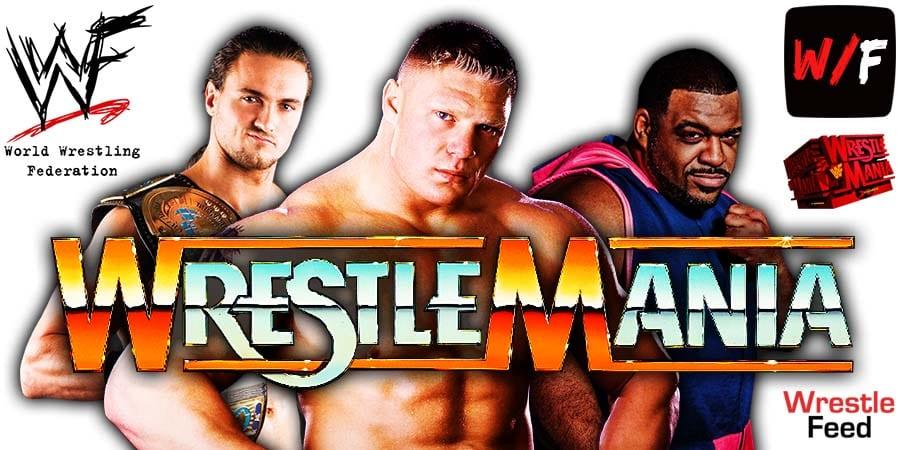 Drew McIntyre vs Brock Lesnar vs Keith Lee WrestleMania 37 WrestleFeed App
